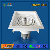 Super Bright 90lm / W 30W Alumínio LED Grille Light para Governo