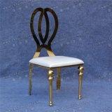 Стул Stee Diorl дешевого золота нержавеющий с белой подушкой сиденья PU кожаный в Дубай (YCX-SS26-01)
