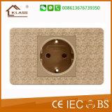 Inicio eléctrico de 6 pines zócalo de pared con el color de oro de mosaico