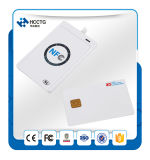 Mini 13.56MHz leitor sem contato ACR122u do smart card do USB do ISO 14443 Handheld Pocket