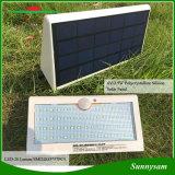 屋外の太陽エネルギーPIRの動きセンサーライト57 LED壁に取り付けられたランプの3つの働くモードの太陽機密保護の庭のテラスライト