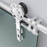 Сползите вспомогательное оборудование оборудования двери ванной комнаты нержавеющей стали рельса стеклянное