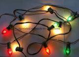Lumières extérieures de chaîne de caractères de Noël DEL de C7C9 E14/ampoule chaînes de caractères légères de patio mini