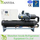 Refrigeratore di acqua raffreddato ad acqua a vite industriale da 120 tonnellate