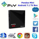 자유로운 APP 다운로드 최신 인조 인간 7.1/Nougat 텔레비젼 상자 Pendoo 소형 Kodi 선수 17 Rk3328 1GB DDR3 8GB