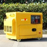 バイソン(中国) BS6500dse 5kw 5kVA 5000WのAir-Cooled長期間の時間熱い販売の無声携帯用義務のディーゼル重い発電機380V