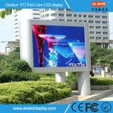 Tela video fixa da parede do diodo emissor de luz do MERGULHO P12 ao ar livre para o quadro de avisos