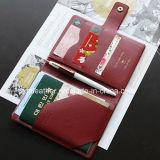 カスタム個人化されたPUの革旅行パスポートのホールダー