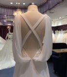 Vestido de casamento da praia da bainha com Chiffon e cintas