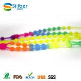 Hübsche quere hängende Mehrfarbensilikon-Halskette