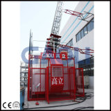 Gaoli 탑 Scq200/200를 위한 야윈 건축 호이스트