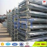 Клетка сетки хранения пакгауза низкой цены складывая стальная