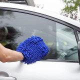 Kundenspezifischer weicher Microfiber Auto-Reinigungs-/Wäsche-Handschuh-Handschuh schnell trocken