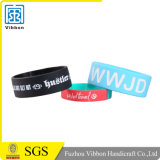 Faixa de pulso personalizada do silicone com logotipo Debossed ou impresso