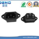 Macho IEC-C14 de Omsol ao soquete de potência da C.A. 240V do Pin da fêmea 3