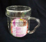 2016 nuevos productos innovadores regalo útil vidrio borosilicato Taza de té