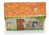 Katze-Haus-Spielwaren, die Wellpappen-löschendes Haus löschen