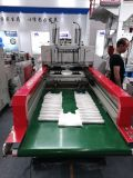 Velocidad cuatro líneas bolsos de compras que sellan haciendo la máquina