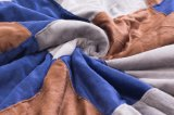 Shuのベルベティーン毛布/Sherpaの羊毛の投げ格子の2017本の縫合線のミルクVleour