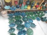 정원 장식을%s 둥근 파란 세라믹 테라코타 새 지류