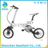 Caucho de la aleación de aluminio de la ciudad bicicleta plegable de 12 pulgadas