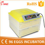 Incubateur complètement automatique approuvé d'oeufs de la CE chaude de vente mini (YZ-96A)