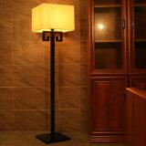 Белый светильник пола типа гостиницы тени светильника ткани B30-616