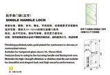 Bloqueo de cristal de la maneta de puerta de la puerta doble de la alta calidad
