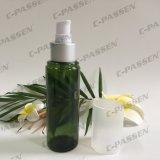 botella verde del animal doméstico de 100ml 150ml con la bomba plástica de la loción para el empaquetado de los cosméticos (PPC-PB-077)