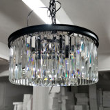 Trommel-Leuchter-Kristallpfosten-moderne 3 Lichter, moderne Hauptkristallbeleuchtung-Vorrichtung, hängende helle Leuchter, die für Esszimmer, Foyer beleuchten