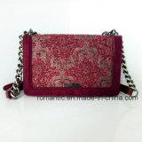 Elegantes gestickte lederne Kettenhandtaschen der Entwurfs-Dame-PU Segeltuch (NMDK-032905)