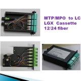 """"""" quadro d'interconnessione ottico del supporto di cremagliera della fibra 1u/2u/3u/4u 19 MPO/MTP"""