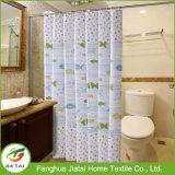Kundenspezifischer Polyester-Fisch-Duschvorhang-Ösen-Bad-Vorhang für Badezimmer