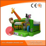 Gorila de salto de la vaca del castillo del trampolín inflable para el parque de atracciones (T1-022)