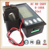 Tester di Digitahi corrente di tempo di energia di potere di tensione di CA 100A 5in1
