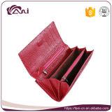 Портмоне бумажника женщин неподдельной кожи крокодиловой кожи Rose красное