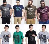 Camiseta de la pintura de fondo de la impresión de los hombres de gran tamaño de la venta caliente