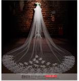 Personalizar o comprimento da catedral uma/duas camadas fora do véu branco do casamento