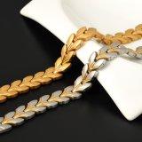Neuer Großhandelsentwurfs-Unisexarmband mit überzogener Goldfarbe