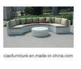 中国の現代藤の家具の庭の家具の屋外のソファー