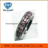 Gute Qualitätsform-Schwarzes mit Zircon Jewellry Finger-Ring