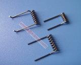 Serpentín de calentamiento del tungsteno, filamento del tungsteno para la metalización del vacío