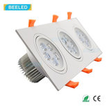 Lámpara natural Dimmable LED Downlight del techo del blanco LED del cuadrado 15W