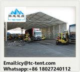 Grande barraca do armazenamento usada para o armazenamento da motocicleta com a parede de vidro do painel da porta e de sanduíche