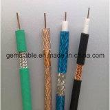 Cable coaxial del conductor del cobre del aislante del PE de Gemt Sywv-75