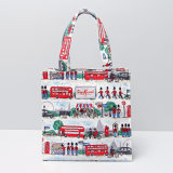 PVC 조수 런던 방수 거리 Retro 쇼핑 백 핸드백 (H037)