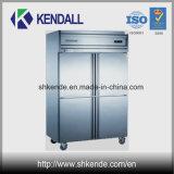 Холодильник Нержавеющей Стали 4 Дверей Коммерчески для Кухни
