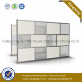 Cloison de séparation en verre de bureau de poste de travail de prix usine (HX-NPT052)