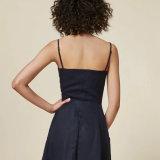Robe avant de toile de glissade de bandage de boutons de piste de femmes de mode