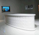 Elegantes gebogenes Corian stellte Salon-Hotel-Büro-Empfang-Schreibtisch her